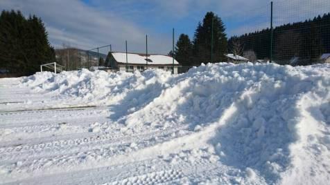des murs de neige