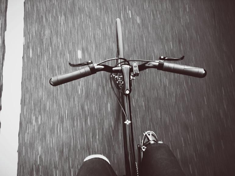 bike, urban, no hands, bicycle
