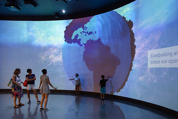 One World Observatory Projection Wall