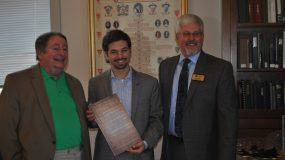Dr. Michael Frost Accepts Virginia General Assembly Joint Resolution