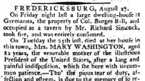 Germanna mentioned in 1789 newspaper