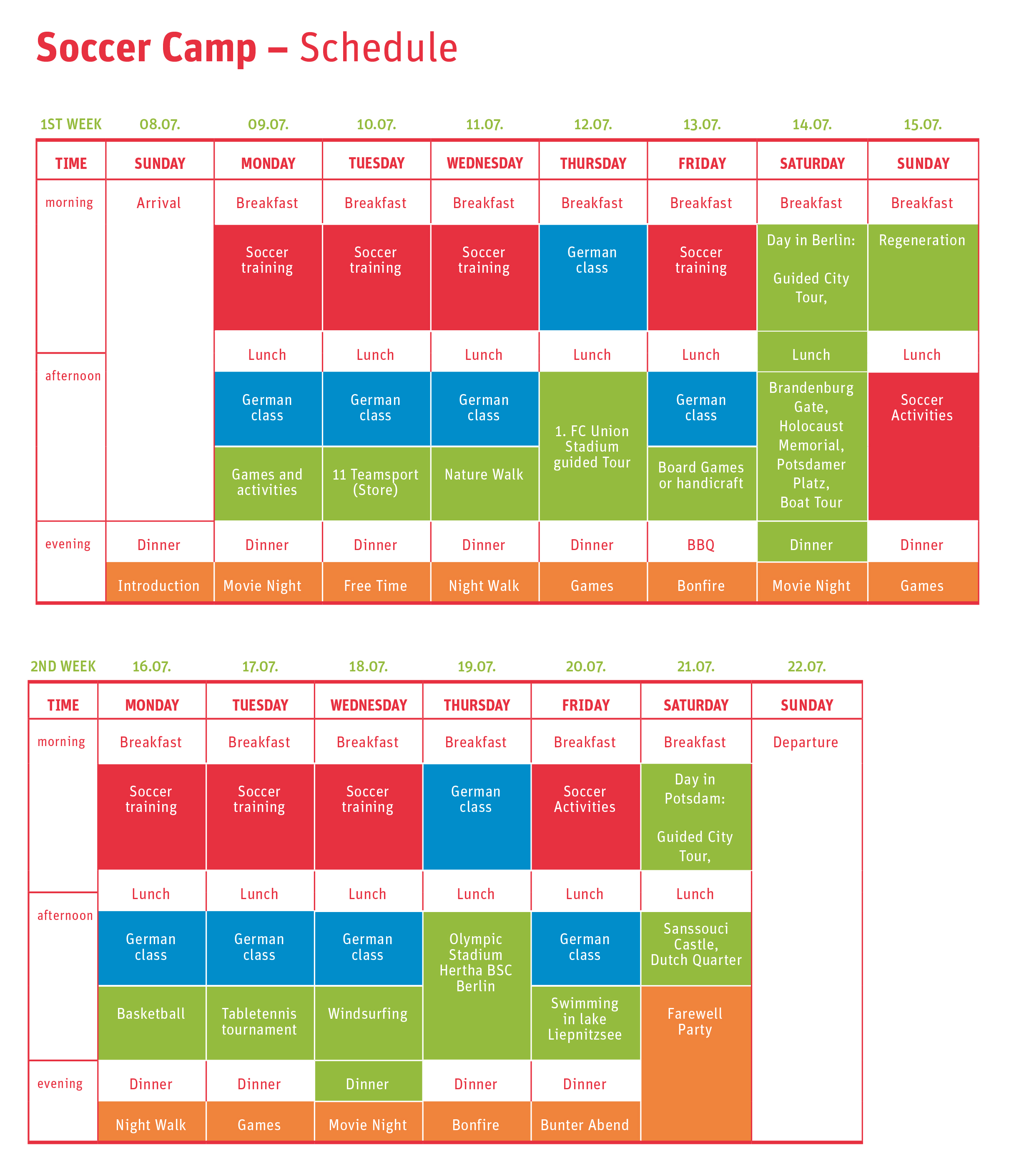 schedule_Soccercamp 2018