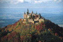 Burg Hohenzollern at Hechningen in Swabian Alps