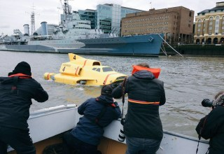 thunderbird 4 spotted in the river thames