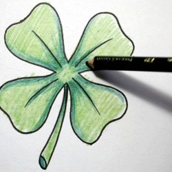 Four Leaf Clover Drawing at Getdrawings Com Free for Personal Use