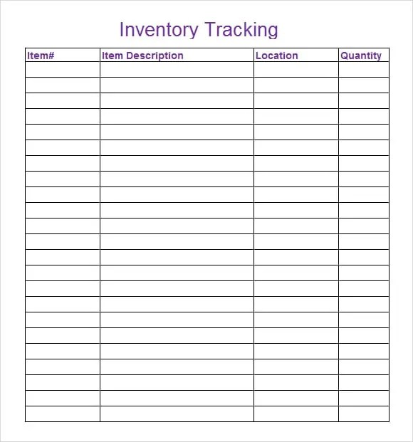 18 Inventory Spreadsheet Templates