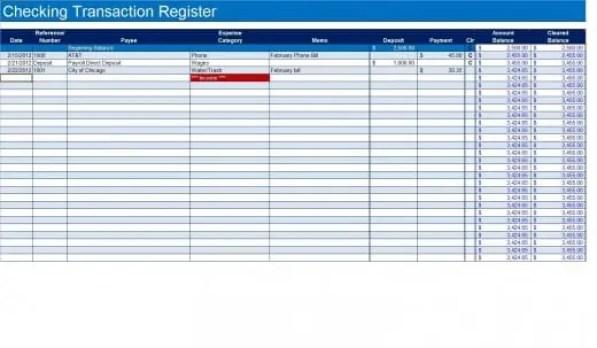 checkbook register template 999