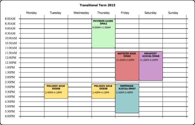 class schedule template 111