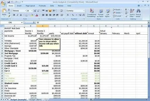 daily budget spread sheet template 888