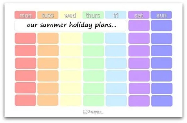 holiday planner template 487