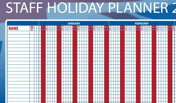 holiday planner template 554