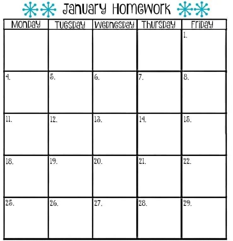 Monthly Homework Calendar Template Archives | uspensky-irkutsk.ru