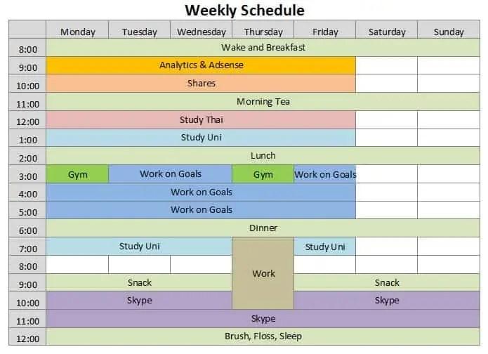 9+ Weekly Schedule Templates | uspensky-irkutsk.ru