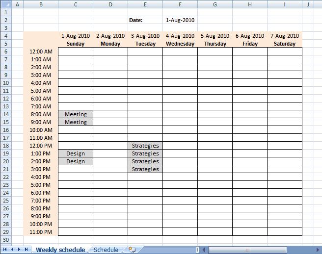 9+ Weekly Schedule Templates   uspensky-irkutsk.ru