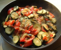 This photo is from when I prepared it on the stove, but it's still super tasty!