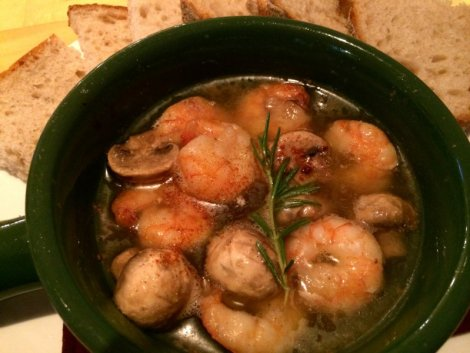 shrimp and mushroom ajillo
