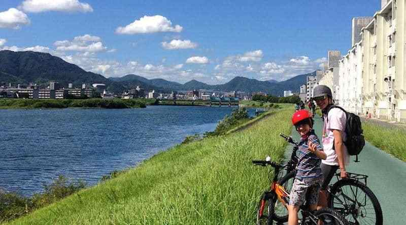 riverside cycling