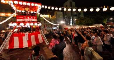 Yukata de bon dance