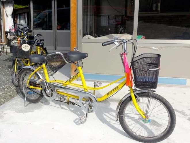 Rental tandem bikes at Taishaku-kyo in Hiroshima