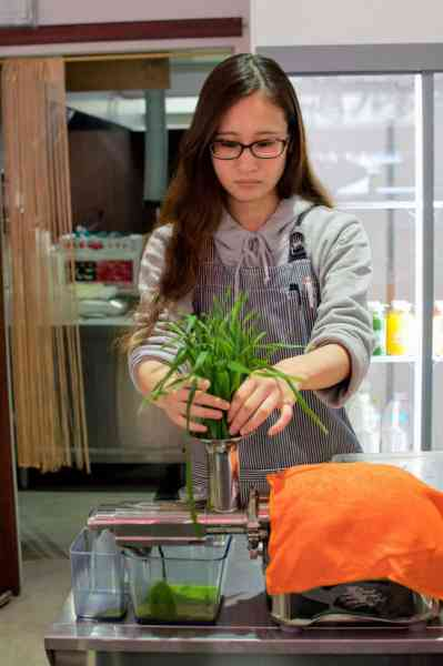 making-organic-wheatgrass-juice
