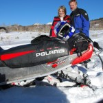 Kirk and LaRea Snowmobiling