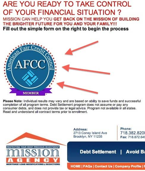 AFCC Current Member Criminally Charged in Debt Settlement Fraudulent Scheme