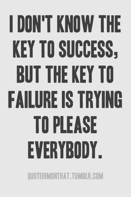 The Absolute Key to Failure