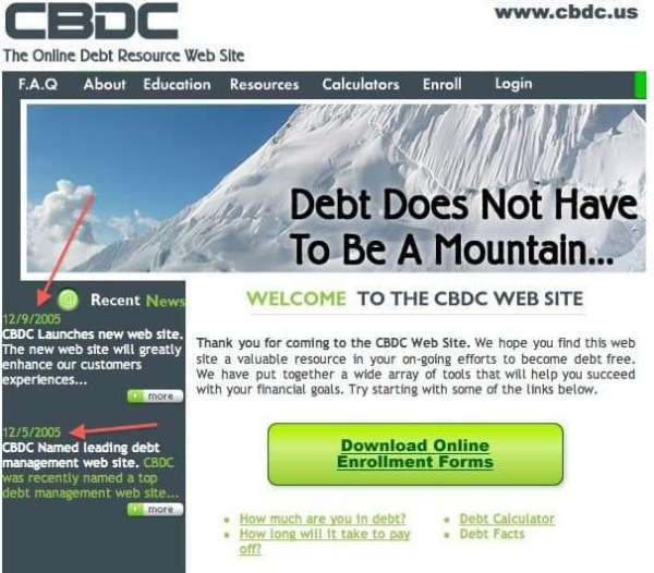 Consumer & Business Debt Counseling (CBDC). What is Going On? On the Radar.