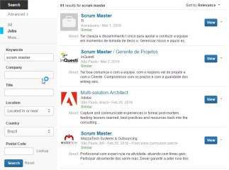 Scrum Master Jobs Brazil