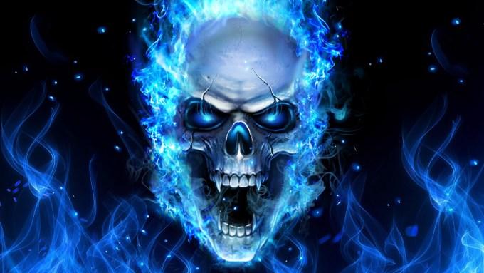 Blue Fire Skull Wallpaper 58 Images