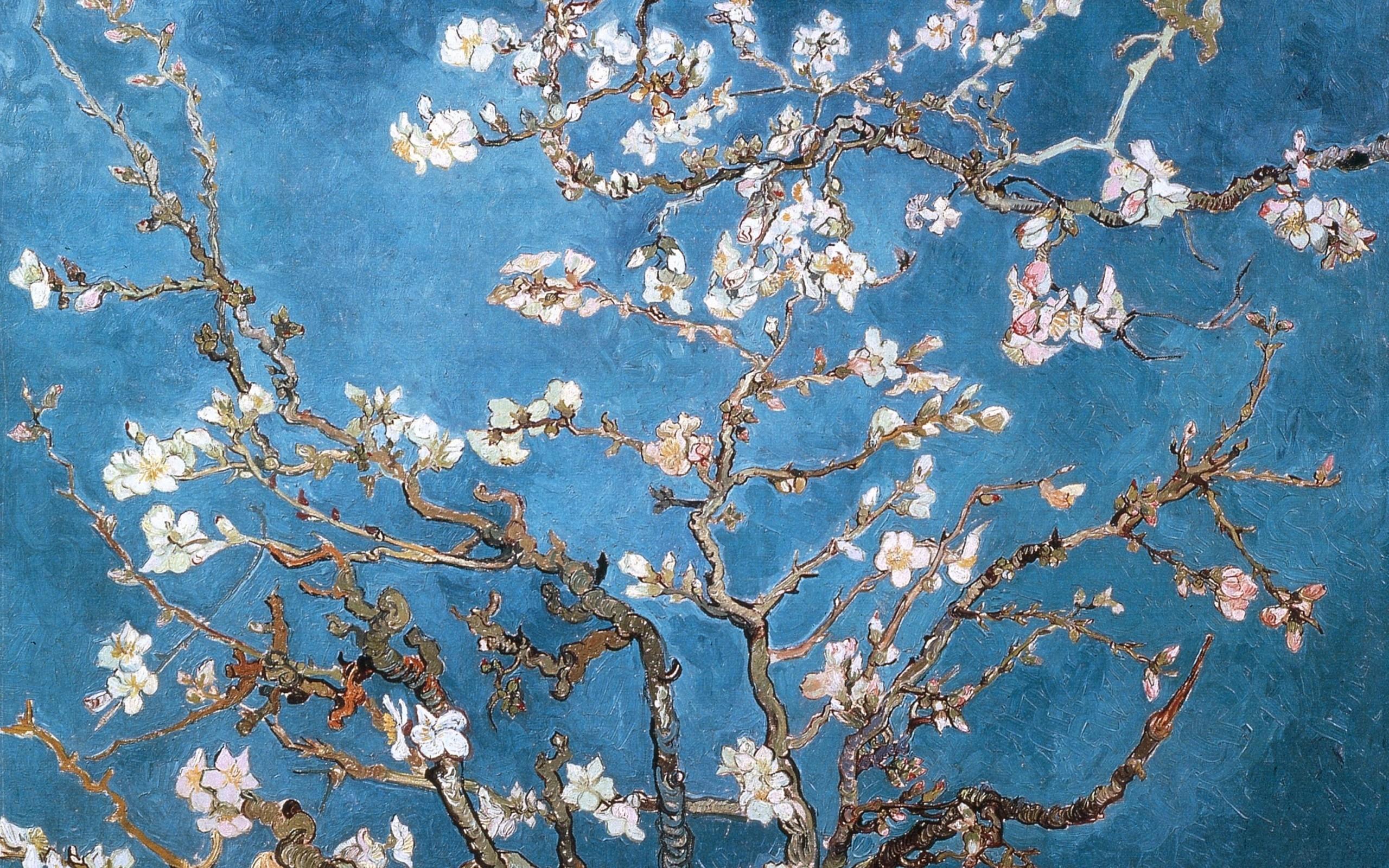 Terrific Blossoms Vincent Van Gogh Artwork Almond Wallpaper Arthd Wallpaper Van Gogh Wallpaper Van Gogh Wallpaper Iphone Van Gogh Wallpaper Walls houzz-02 Van Gogh Wallpaper