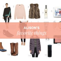 Alison's Favorite Things + A Giveaway
