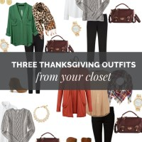 Three Thanksgiving Outfits from Your Closet