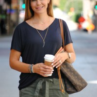 Fall Transition Outfits:  Olive Cargo Pants