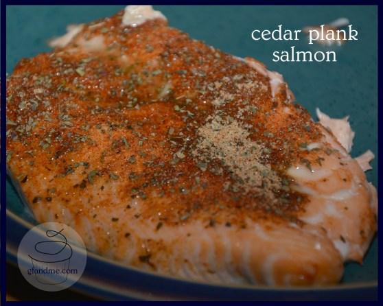 bbq cedar plank salmon