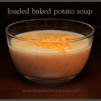 creamy baked potato soup – loaded up with everything but gluten