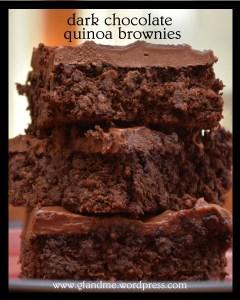 dark chocolate quinoa brownies