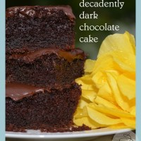 dark, dark, dark gluten free chocolate cake .... Did I say it was dark?