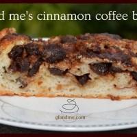 gf and me's cinnamon coffee bread