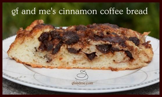 cinnamon coffee bread gluten free. gfandme