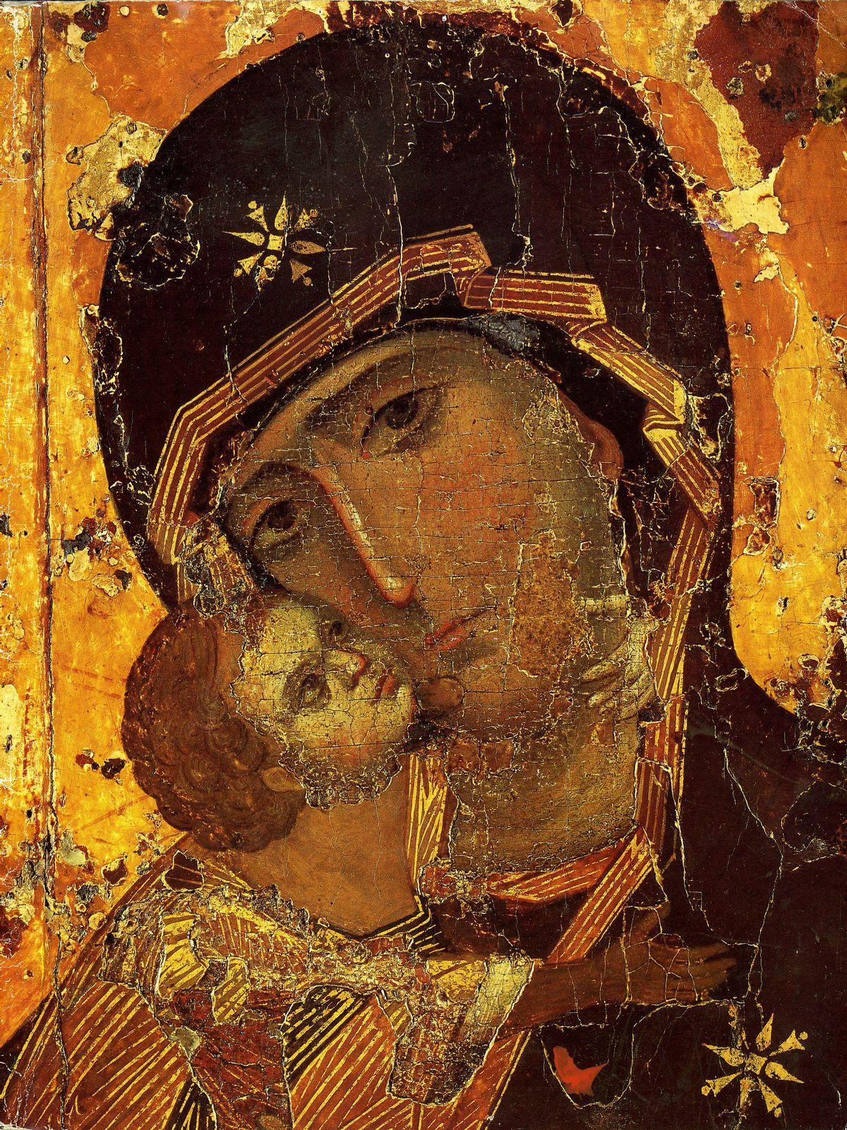 Владимирская икона божией матери (икона богородицы) считается чудотворной и, по преданию