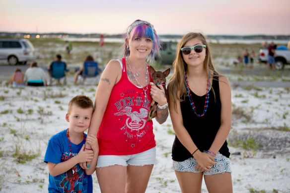 Melissa Thurber with her children Blake (left) and Delanie.