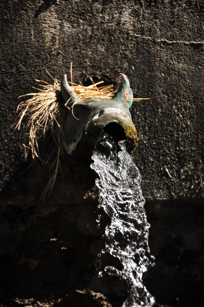 One of the 108 taps in the courtyard of Muktinath