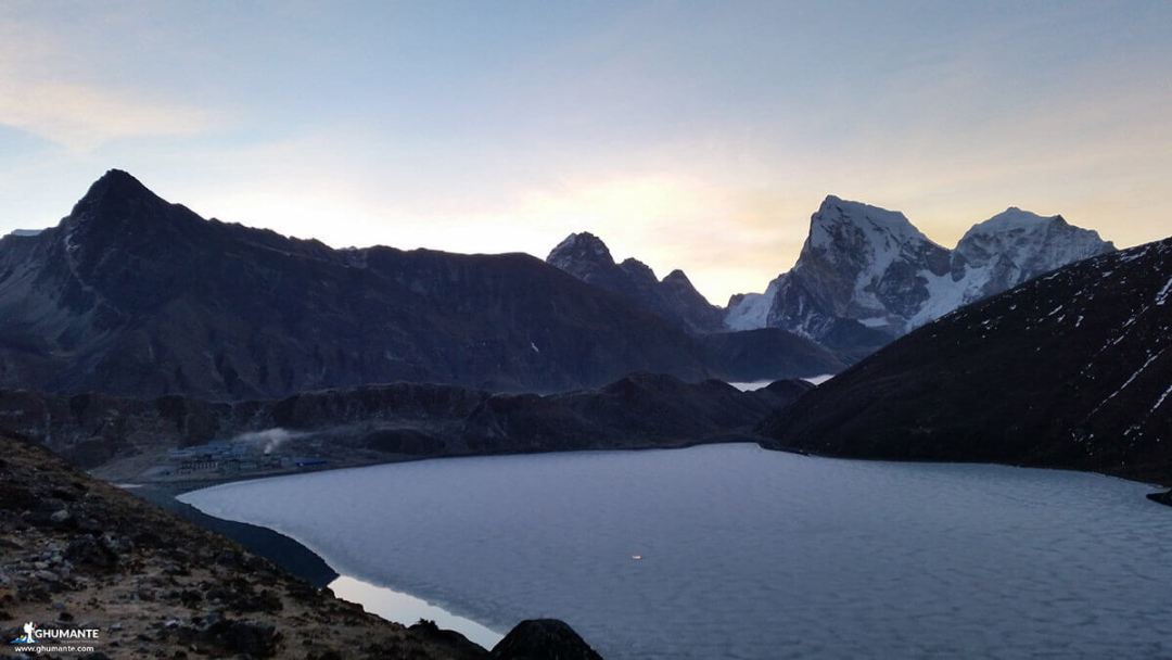 Looking back at Gokyo!