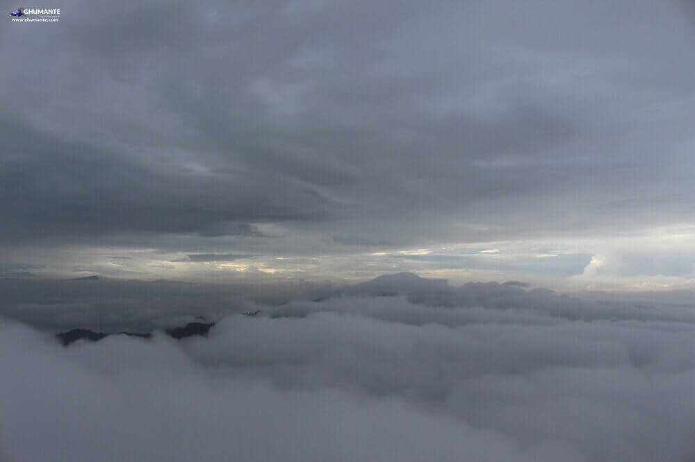 We were literally above the clouds, Photo courtesy: Ravi Shrestha