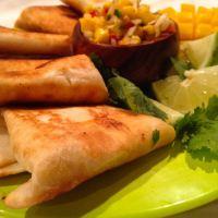 Mini Chimichangas with Ataulfo Mango Salsa