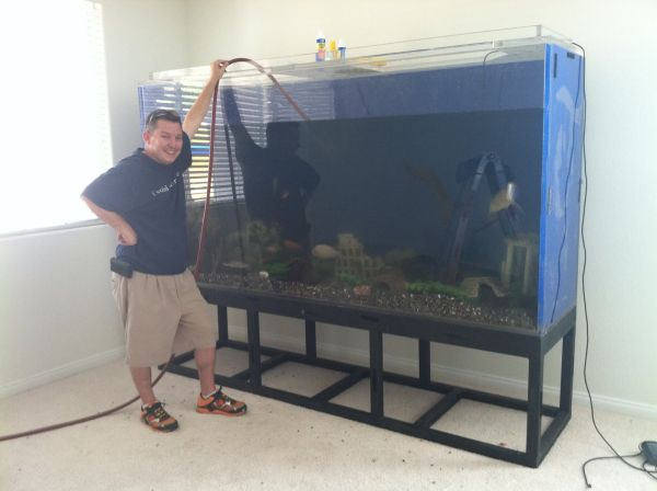this is a 1inch thick tenacor show tank dimensions of tank are 6ft