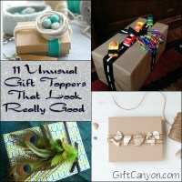 11 Unusual Gift Toppers That Look Really Good