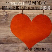 Traditional 1st Wedding Anniversary Gifts for Him: Paper