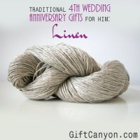 Traditional 4th Wedding Anniversary Gifts for Him: Linen